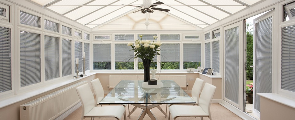 Conservatory Venetian blinds in Woodbridge