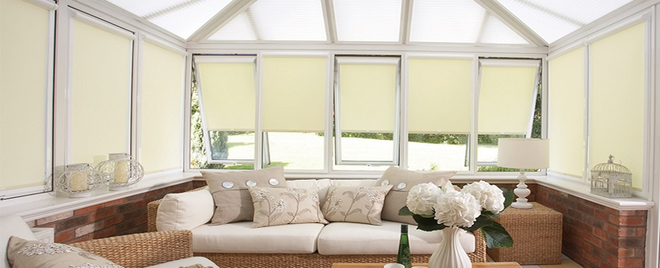 Conservatory roller blinds in Woodbridge